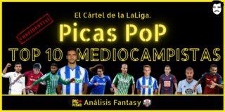 PICAS POP. Ranking. Top 10 Mediocampistas.